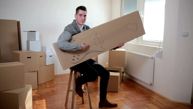 having fun in the new apartment - carton stock videos & royalty-free footage