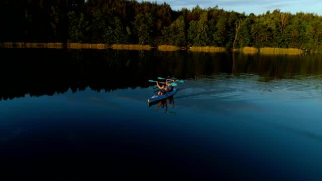 Having fun on a kayak. Enjoying peaceful scenery