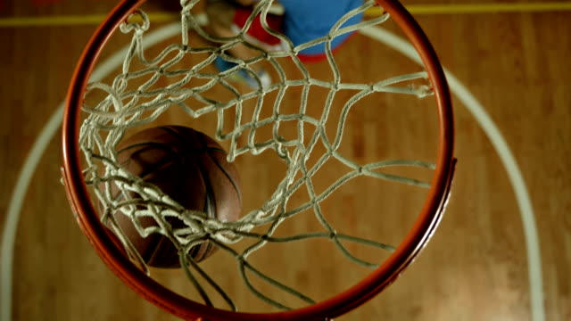 hd slow motion: having fun playing basketball - basket stock videos & royalty-free footage