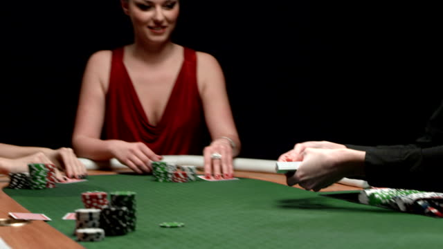 hd dolly: having fun playing poker - blackjack stock videos and b-roll footage