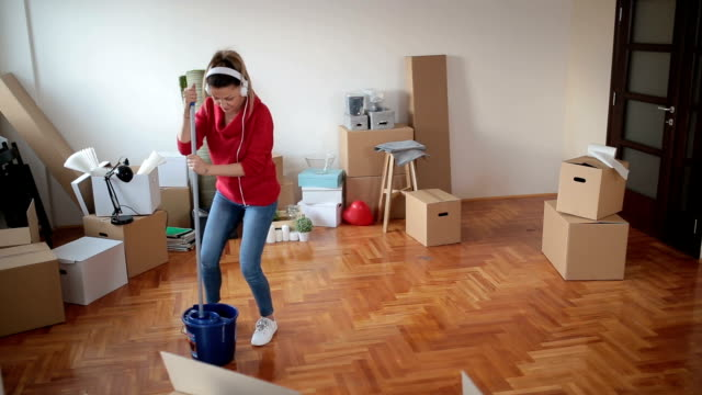 Having fun while cleaning