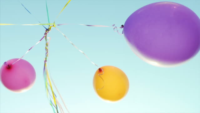 having fun with balloons. - carefree stock videos & royalty-free footage