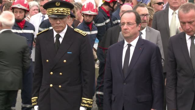 Having presided over the 70th anniversary of the D Day celebrations in France French president François Hollande visits his stronghold of Correze in...