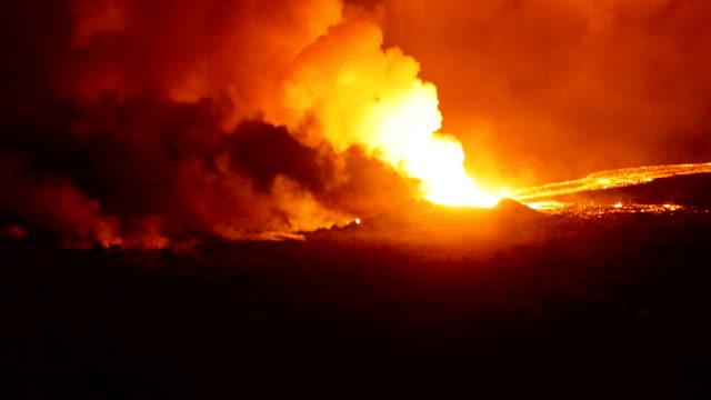 Hawai Army National Guard black hawk flight Ariel footage showing the Damage from Kilauea Volcano Eruption