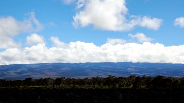 hawaii big island, mauna kea mauna loa peak, daytime view - mauna loa stock videos and b-roll footage
