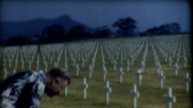 hawaii cemetery 1940's. - pearl harbor stock videos and b-roll footage