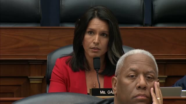 hawaii congresswoman tulsi gabbard engages defense secretary jim mattis at the house armed services committee hearing over whether president donald... - aorta stock videos & royalty-free footage