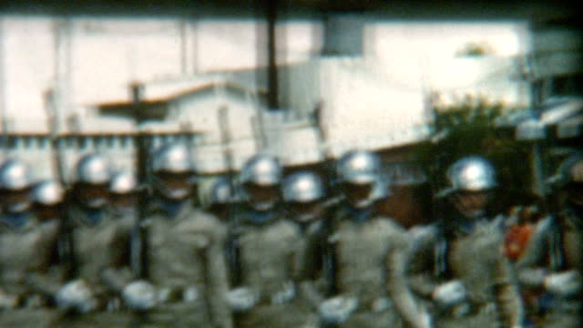 hawaii military police parade 1950's - military parade stock videos & royalty-free footage
