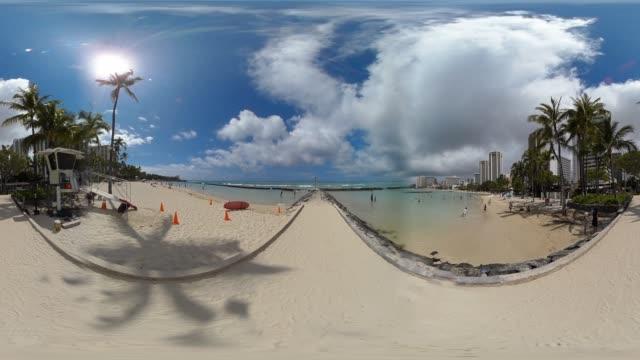 usa, hawaii, oahu, waikiki beach - 360 stock videos & royalty-free footage