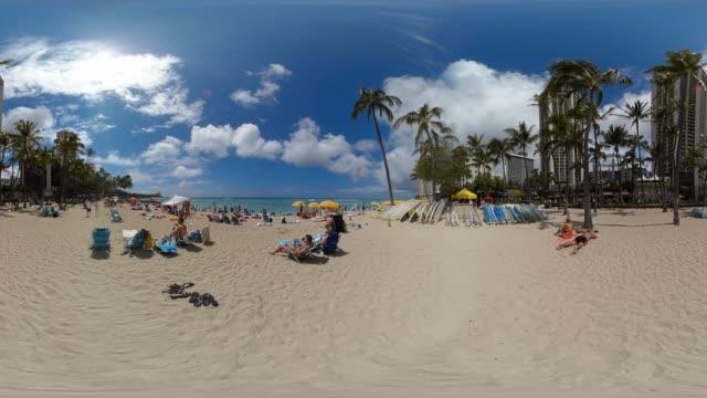 usa, hawaii, oahu, waikiki beach - oahu stock videos & royalty-free footage
