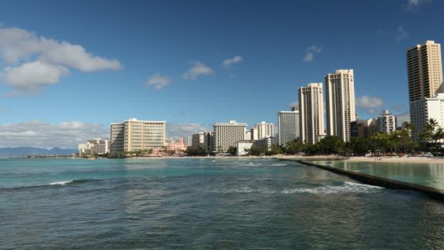 アメリカ、ハワイ、オアフ島、ワイキキ ビーチ - リゾート地点の映像素材/bロール