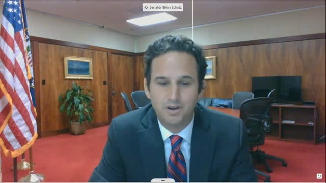 hawaii senator brian schatz says by videoconference to a senate commerce committee hearing on social media censorship that he had never seen a... - united states presidential election stock videos & royalty-free footage
