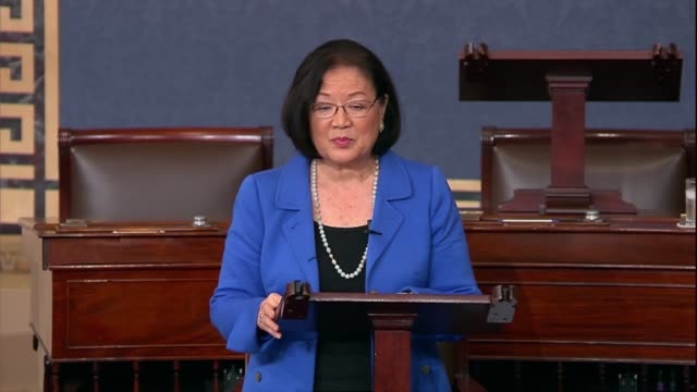 Hawaii Senator Mazie Hirono says hours after the Judiciary Committee reported the Supreme Court nomination of Judge Brett Kavanaugh to the Senate on...