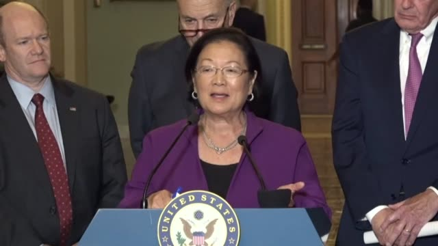 Hawaii Senator Mazie Hirono tells reporters at a regular weekly press briefing that the tax reform plan by Republicans will be a huge giveaway to the...