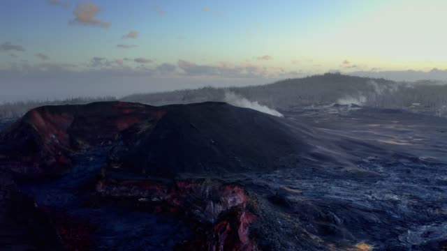 hawaii volcanic devastation aerial view - 1 - hilo stock videos & royalty-free footage