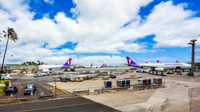 hawaiian airlines / hawaii, united states - oahu stock videos & royalty-free footage