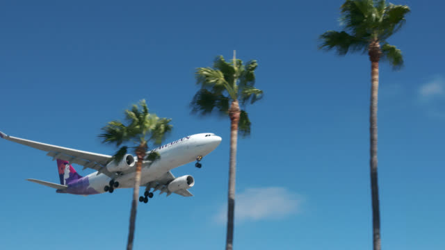 hawaiian airlines - pacific islands stock videos & royalty-free footage