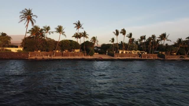 hawaiian coastline - mauna loa stock videos and b-roll footage
