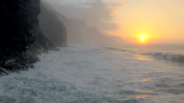 Hawaiischer Ozean Wellen UAV Hintergrundgeräusche Luftaufnahme
