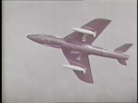 a hawker siddeley gnat streaks through the sky. - fighter stock videos & royalty-free footage