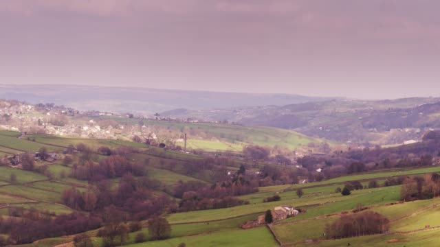 haworth, west yorkshire - drone shot - lancashire stock videos and b-roll footage