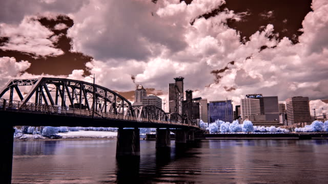 Hawthorne Bridge and Downtown Portland Oregon