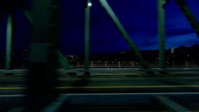 hawthorne bridge ix synced series left view driving process plate - oregon us state stock videos & royalty-free footage
