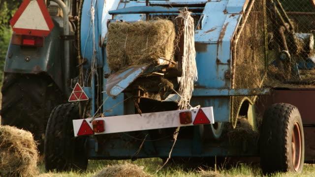 hay baler - hay baler stock videos & royalty-free footage