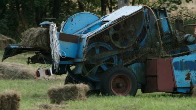 hay making - hay baler stock videos & royalty-free footage
