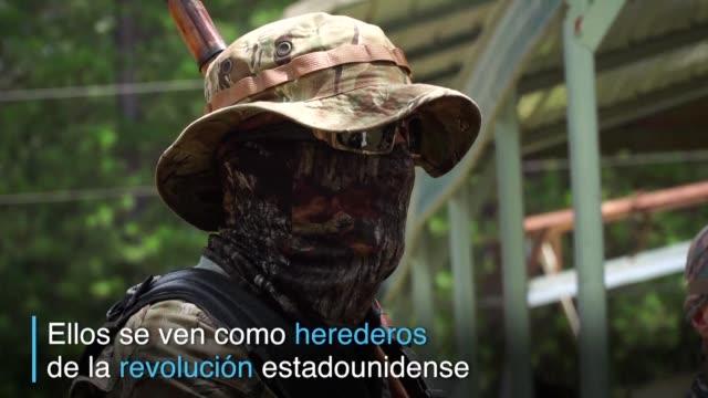 vídeos y material grabado en eventos de stock de hay mas de 150 milicias antigubernamentales en estados unidos - ee.uu