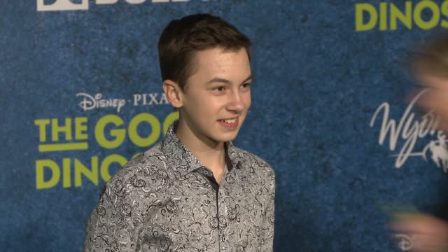 hayden byerly at the good dinosaur world premiere at the el capitan theatre on november 17 2015 in hollywood california - el capitan theatre stock videos and b-roll footage