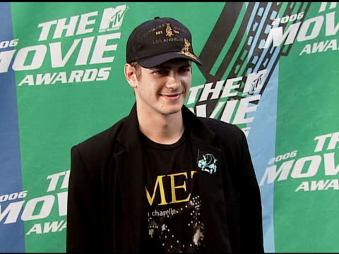 Hayden Christensen at the 2006 MTV Movie Awards Red Carpet at Sony Pictures Studios in Culver City California on June 3 2006