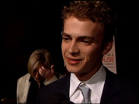 Hayden Christensen at the 'Life as a House' Premiere at the Egyptian Theatre in Hollywood California on October 24 2001
