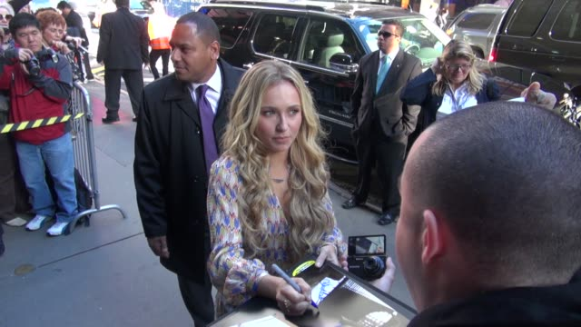 Hayden Panettiere at the 'Good Morning America' studio in New York NY on 10/16/12