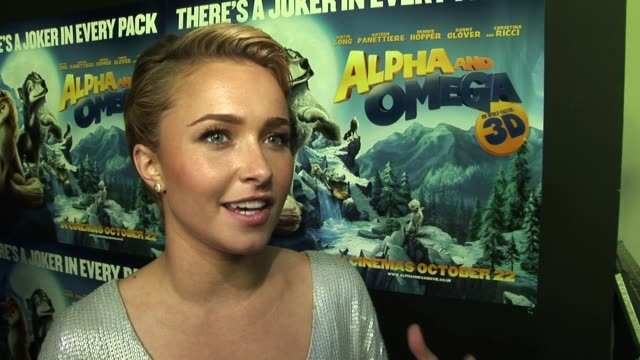 Hayden Panettiere on her approach to the role and preparing for the role at the Alpha and Omega Special Screening at London England