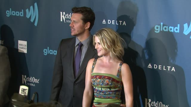 hayes macarthur ali larter at 24th annual glaad media awards 4/20/2013 in los angeles ca - ali larter stock videos and b-roll footage