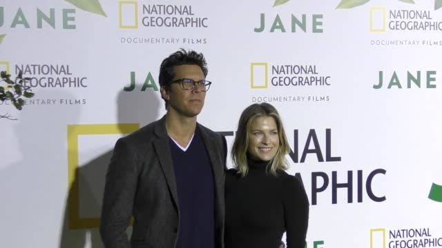 hayes macarthur ali larter at the premiere of national geographic documentary films' 'jane' at the hollywood bowl on october 09 2017 in los angeles... - ali larter stock videos and b-roll footage