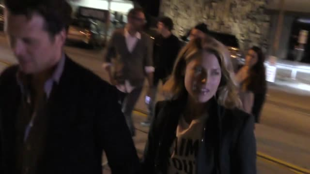 hayes macarthur and ali larter outside craig's in west hollywood at celebrity sightings in los angeles on february 09 2018 in los angeles california - ali larter stock videos and b-roll footage