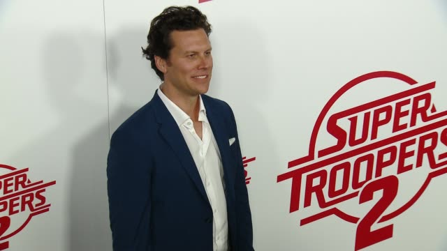 "hayes macarthur at ""super troopers 2"" los angeles premiere presented by fox searchlight pictures in los angeles ca - super troopers 2 stock videos & royalty-free footage"