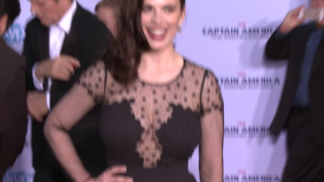 hayley atwell at the captain america the winter soldier los angeles premiere at the el capitan theatre on march 13 2014 in hollywood california - el capitan theatre stock videos and b-roll footage