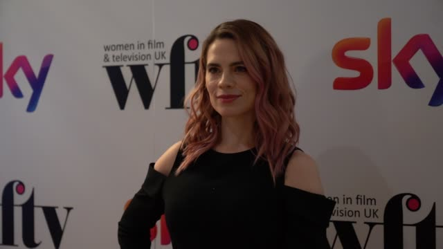 hayley atwell at the women in film and television awards on december 7 2018 in london england - television awards stock videos & royalty-free footage