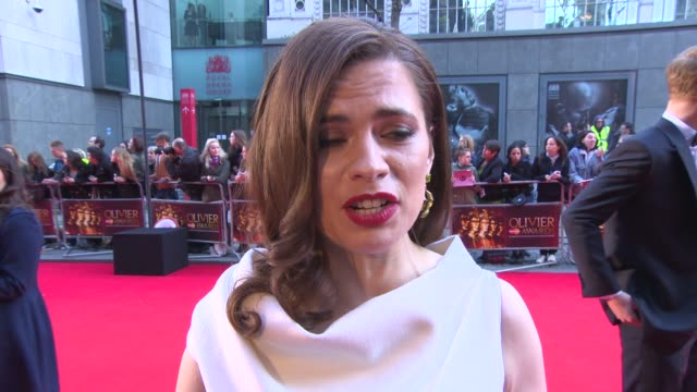 INTERVIEW Hayley Atwell on the difference between working on stage to film and being nominated for an Olivier at The Laurence Olivier Awards with...