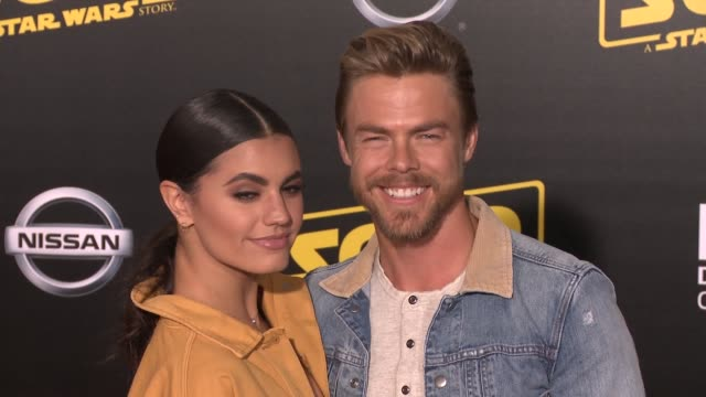 """hayley erbert and derek hough at the """"solo: a star wars story"""" world premiere at the el capitan theatre on may 10, 2018 in hollywood, california. - el capitan theatre stock videos & royalty-free footage"""