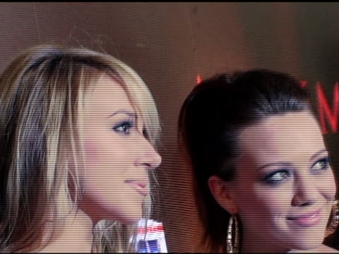Haylie Duff and Hilary Duff at the Maxim's 8th Annual Hot 100 Party at Ono at The Gansevoort Hotel in New York New York on May 16 2007