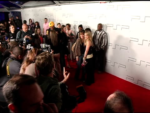 Haylie Duff and Hilary Duff at the PretaPSP Accessories Show at Pacific Design Center in West Hollywood California on March 14 2005