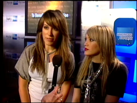 Haylie Duff and Hilary Duff Interview Clip at the American Express Jam Sessions with Kid Rock EPK at House of Blues in Los Angeles California on...