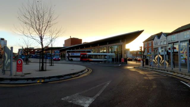 vidéos et rushes de haymarket bus station - haymarket