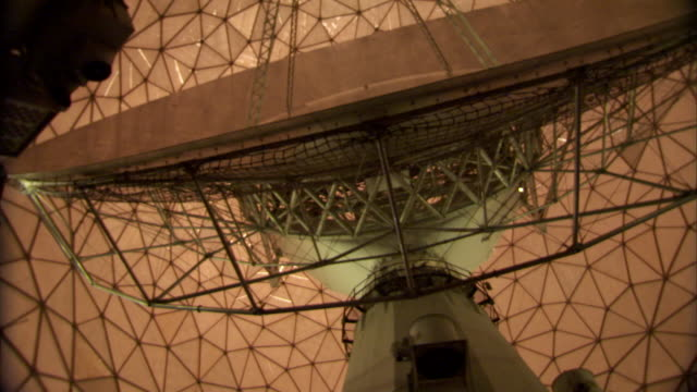 ms haystack telescope of giant dish antenna with turning inside geodesic dome / westford, massachusetts, usa - haystack stock videos & royalty-free footage
