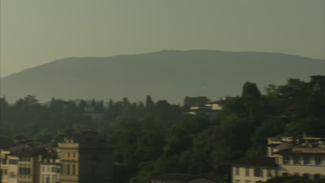 a haze envelops florence, italy, at golden hour. - golden hour stock videos & royalty-free footage
