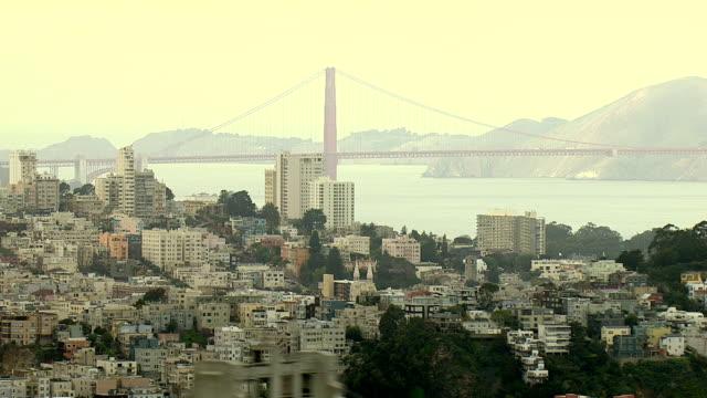 a haze surrounds san francisco bay. - コイトタワー点の映像素材/bロール